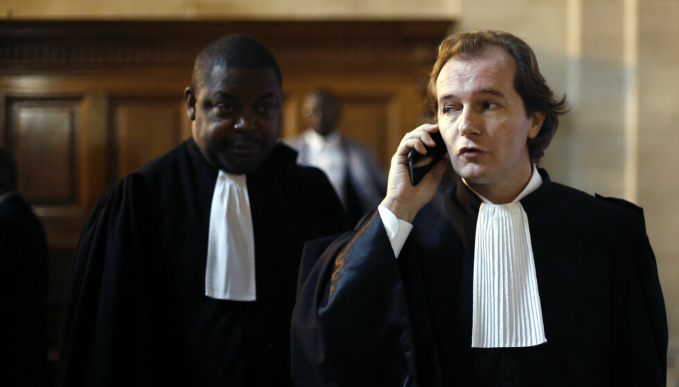 ADVOKATEN: Advokat Emmanuel Marsigny (t.h.) representerte Teodoro Obiang i retten. Foto: Thibault Camus / AP / NTB scanpix
