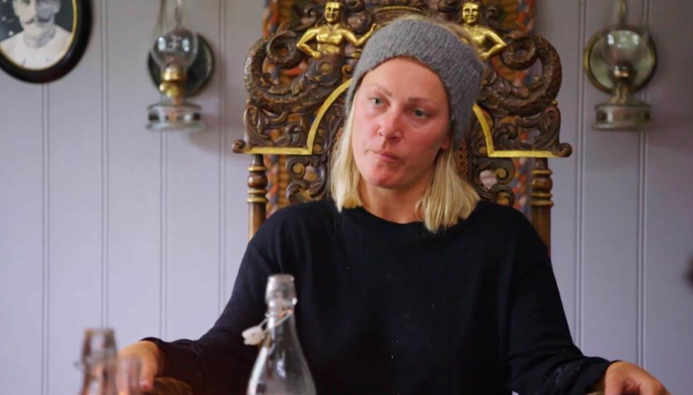 FIKK NOK: «Farmen»-deltakeren Karianne Amlie Wahlstrøm gikk rett i strupen på meddeltaker Geir Magne Haukås i kveldens episode. Nå forklarer hun hvorfor. Foto: TV 2