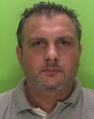 DØMT: 42 år gamle Edward Zielinski fra Nottingham i England ble mandag dømt til tre år og fire måneder i fengsel, for menneskehandel. Foto: Politiet i Nottinghamshire