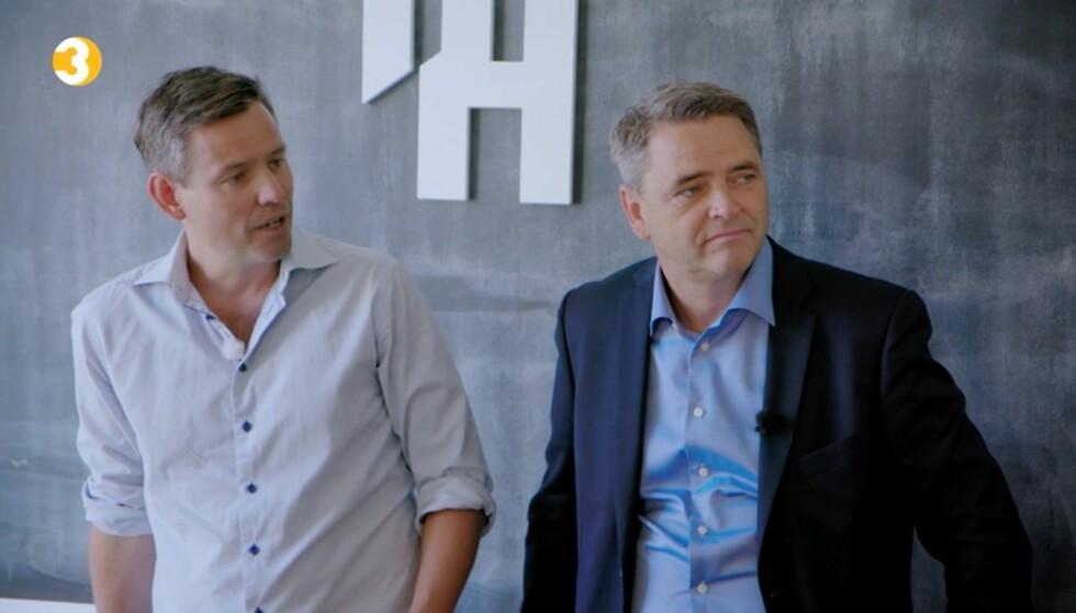 BLIR OVERRASKET: Enklere liv-gründeren Sverre Steensen (43) og Magne Gundersen (55) blir overrasket over Andreas' prioriteringer. Foto: TV3