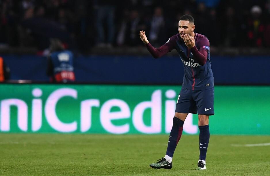 SCORET HATTRICK: PSGs forsvarsspiller Layvin Kurzawa scoret tre mål mot Anderlecht. Foto: AFP PHOTO / FRANCK FIFE / NTB Scanpix