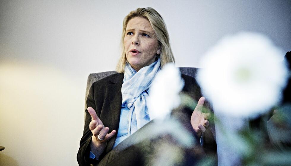 KAN MISTE MARSJORDRE: SVs Karin Andersn vil ta fra Sylvi Listhaug (Frp) makt. Foto: Nina Hansen / Dagbladet