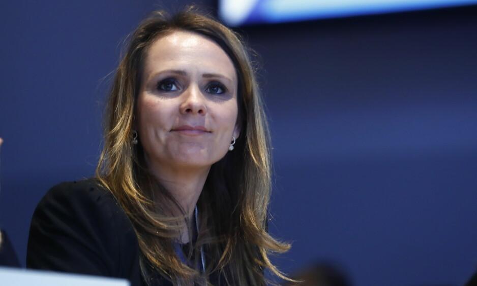 FÅR IKKE STØTTE: Kulturminister Linda Hofstad Helleland (H) får ikke støtte for sitt forslag om å kutte 25,7 millioner i pressestøtte. FOTO: NTB Scanpix