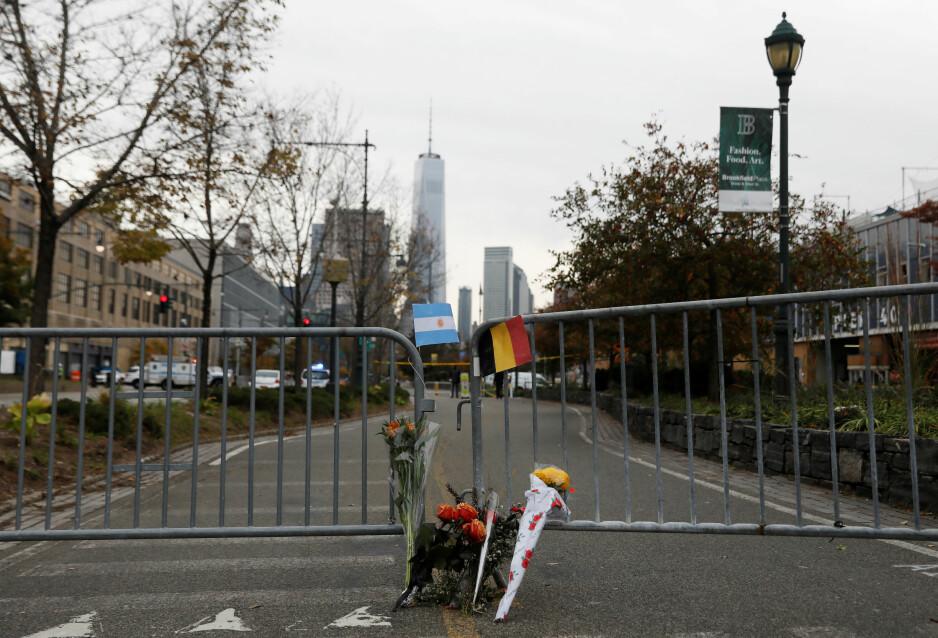DØDE: Her minnes de åtte omkomne i terrorangrepet på Manhattan i New York tirsdag. Foto: NTB Scanpix