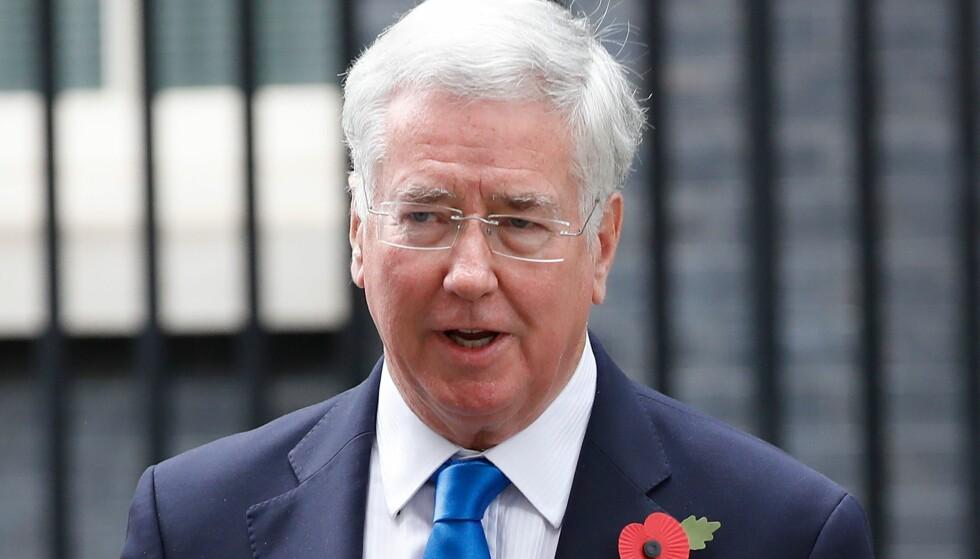 GÅR AV: Storbritannias forsvarsminister går av etter trakasseringsbeskyldninger. Foto: NTB Scanpix