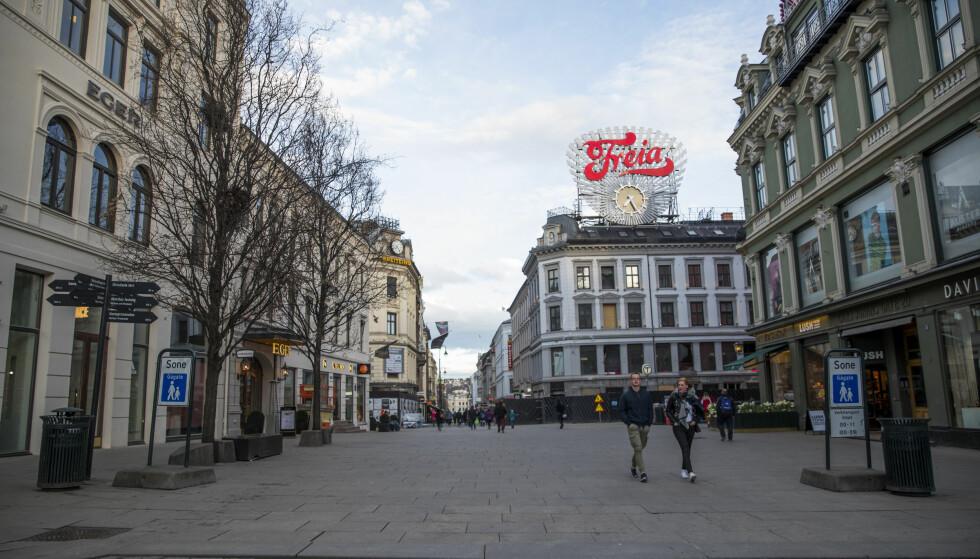 BILTERROR: Karl Johan, som er Oslos hovedgate, har ingen form for sperring for trafikk. Foto: Håkon Mosvold Larsen / NTB scanpix
