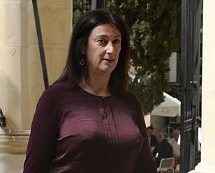 DREPT: Journalisten Daphne Caruana Galizia (53). Foto: NTB Scanpix