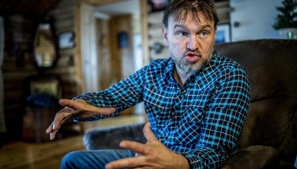 REAGERER: En av de som reagerer på at Tine har ulv på melkekartongen, er «Farmen»-deltaker Halvor Sveen. Foto: Thomas Rasmus Skaug / Dagbladet