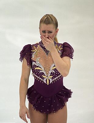 GRÅT UNDER OL: Tonya Harding brøt ut i gråt på isen under Lillehammer-OL. Foto: Scanpix