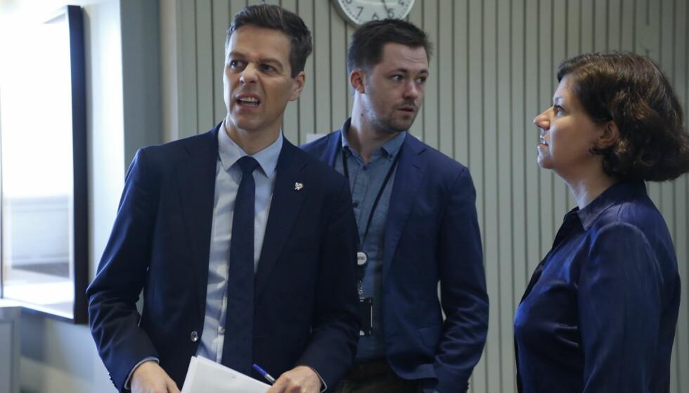 REVERSERER: KrF og leder Knut Arild Hareide. Denne uken ble det klart at KrF vil stemme for å oppløse tvangssammenslåingen av Leka og Bindal med kommunene Vikna og Nærøy. Foto: Mariam Butt / NTB scanpix