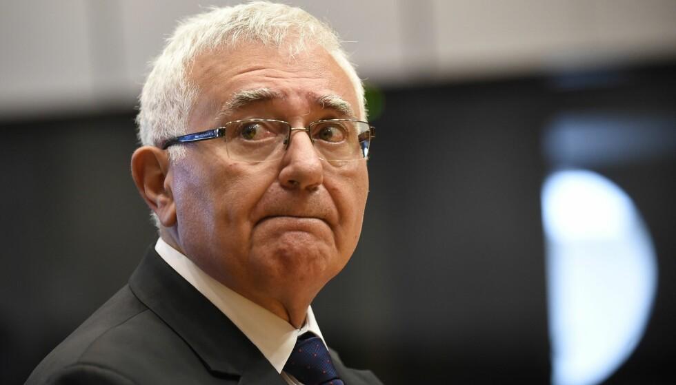 STILLES I ET DÅRLIG LYS: Tidligere EU-kommissær John Dalli fra Malta. Foto: NTB Scanpix