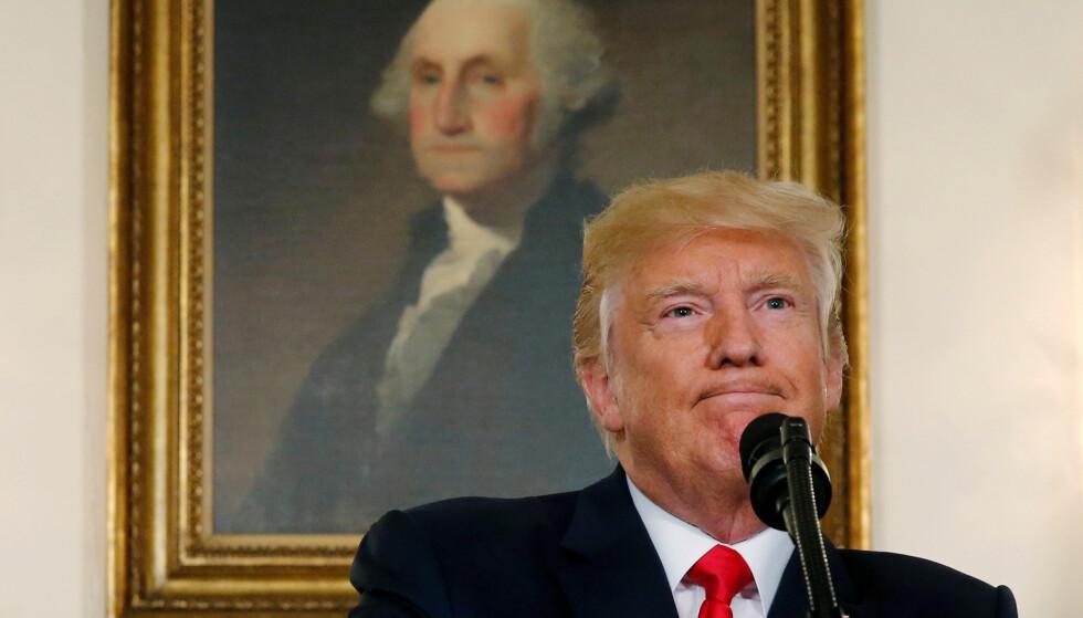 PRESIDENT: Ved en feil, ble Twitter-kontoen til Donald J. Trump deaktivert. Foto: Reuters / NTB Scanpix