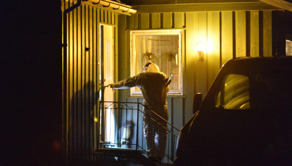 «SVÆRT BRUTALT»: Politiets etterforsker boligen der Råger Holte ble funnet død i januar. Retten betegner drapet som «svært brutalt. Foto: Ned Alley / NTB Scanpix