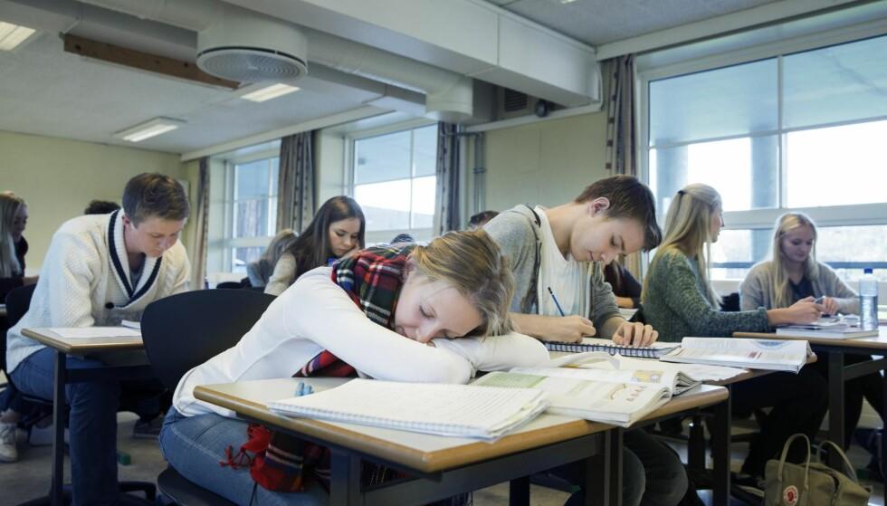 «GENERASJON PERFEKT»: Kravene er store, og mange elever sliter i skolehverdagen. Foto: Berit Roald / NTB Scanpix