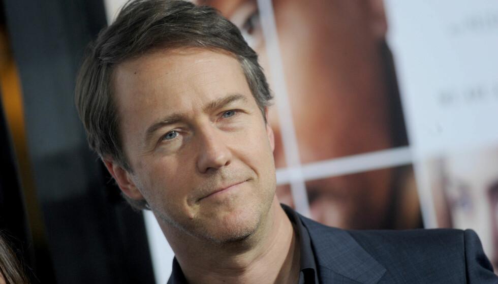 KRANGLETE: Skuespiller Edward Norton (48) skal visstnok ikke være den enkleste å ha med å gjøre på filmsett. Foto: NTB Scanpix.