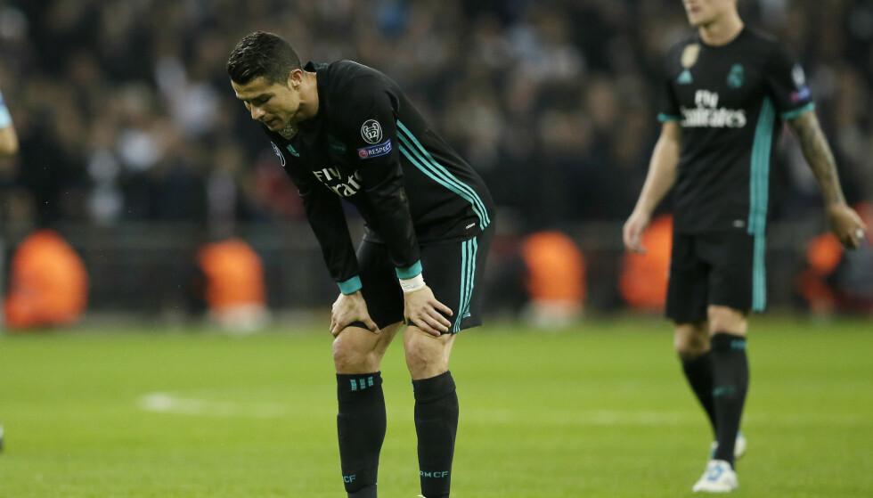 IKKE TATT UT: Cristiano Ronaldo får hvile i den kommende landskamppausen, der Portugal skal møte Saudi-Arabia og USA. Foto: Tim Ireland / AP / NTB scanpix