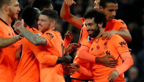 GRATULASJONER: Mohamed Salah har skapt mye scoringsjubel i debutsesongen sin i Liverpool og hylles av ekspertene. Foto: NTB Scanpix