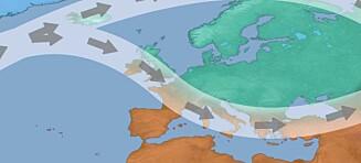 Meteorolog spår vinterværet. Dette fenomenet blir avgjørende