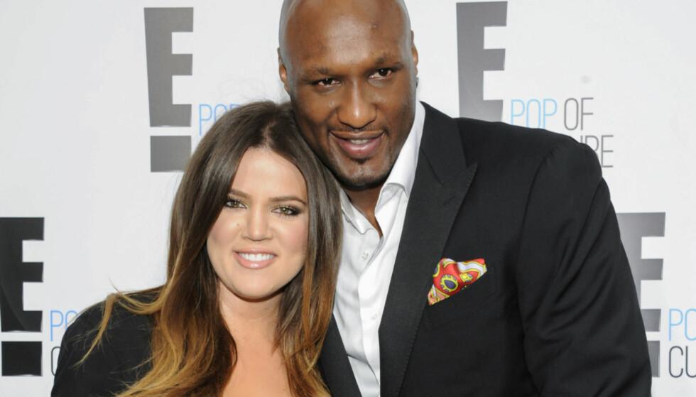 SVIMTE AV: Khloé Kardashians eksmann, Lamar Odom, falt om på utestedet Bootsy Bellows i Hollywood denne helga. Foto: NTB scanpix