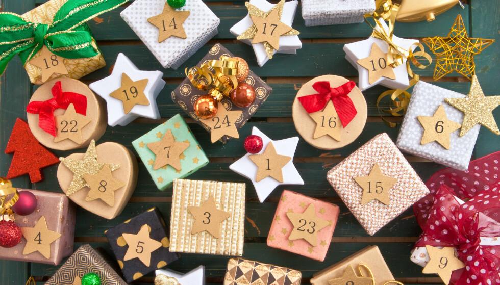 Desember betyr adventskalender, men det finnes heldigvis langt enklere løsninger enn å lage kalenderen selv. Foto: NTB Scanpix