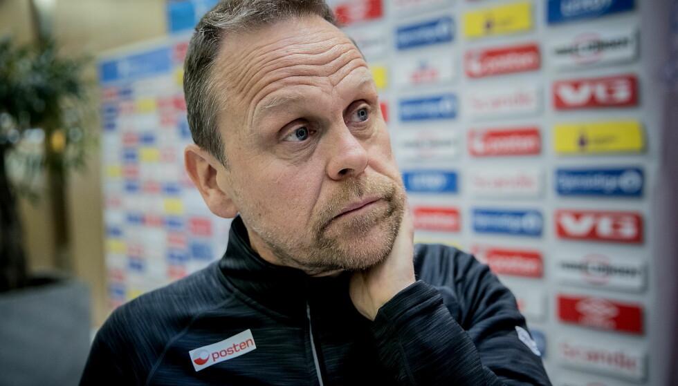 OPTIMIST: Landslagssjef Thorir Hergeirsson offentliggjorde troppen til håndball-VM i Tyskland.  Foto: Bjørn Langsem / Dagbladet.