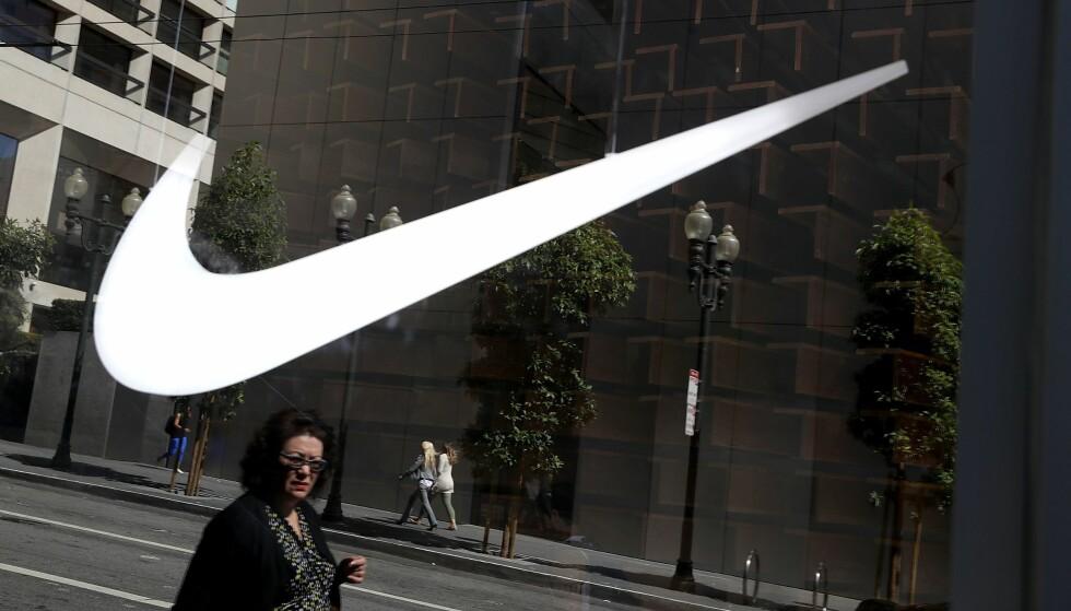 AVSLØRT: Blant avsløringene i lekkasjene av de såkalte Paradise Papers var blant annet sportsmerket Nikes benyttelse av skattemessige smutthull. Foto: AFP PHOTO / NTB scanpix