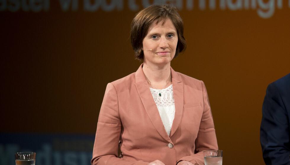 VIL HA FORTGANG: Helsepolitisk talsperson for Sp, Kjersti Toppe, vil ha forbud mot salg av energidrikk med høyt koffeininnhold til barn og unge. Foto: NTB Scanpix