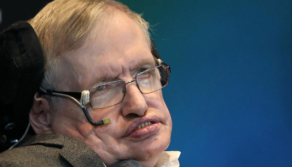 ADVARER: Professor Stephen Hawking advarer om utviklingen av kunstig intelligens. Foto: PA Photo/Philip Toscano/NTB Scanpix