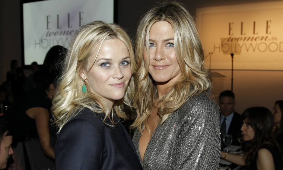 SAMMEN: Reese Witherspoon og Jennifer Aniston spiller sammen i igjen flere år etter at de to spilte sammen i tv-suksessen «Friends». Foto: Scanpix