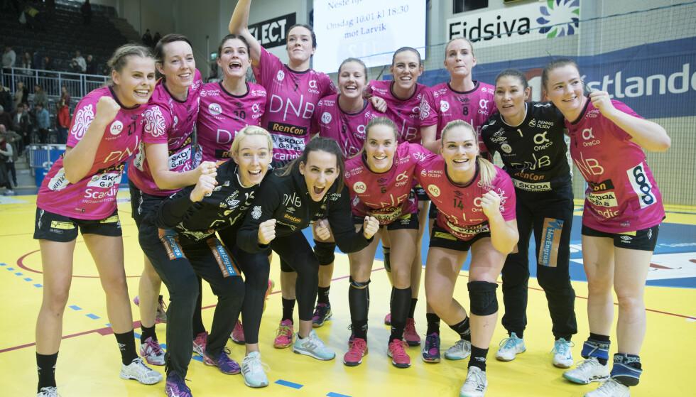 ÅPENHET: Vipers Kristiansand er en av aktørene som går til kamp mot menstabuet i Idretts-Norge.  Foto: Terje Pedersen / NTB scanpix