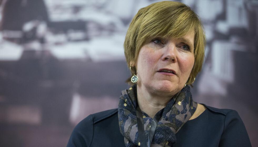 SAMME BUDSKAP: Christine Meyer mener Finansdepartementet prøver seg på en unnamanøver. Foto: Mariam Butt / NTB scanpix