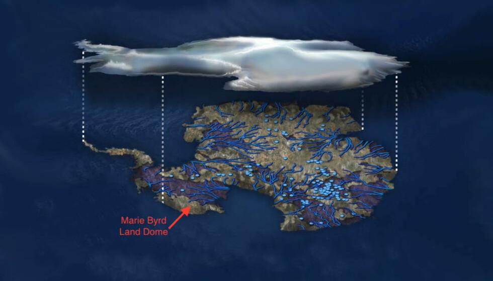 NYOPPDAGET: I løpet av de siste 30 årene har forskere spekulert i om det har eksistert et varmepunkt i Vest-Antarktis. Nå bekrefter NASA spekulasjonene. Foto: NSF/Zina Deretsky