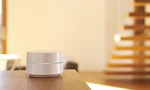 TRÅDLØST: Google WiFi-routeren er enkel å installere og ser dessuten lekker ut.