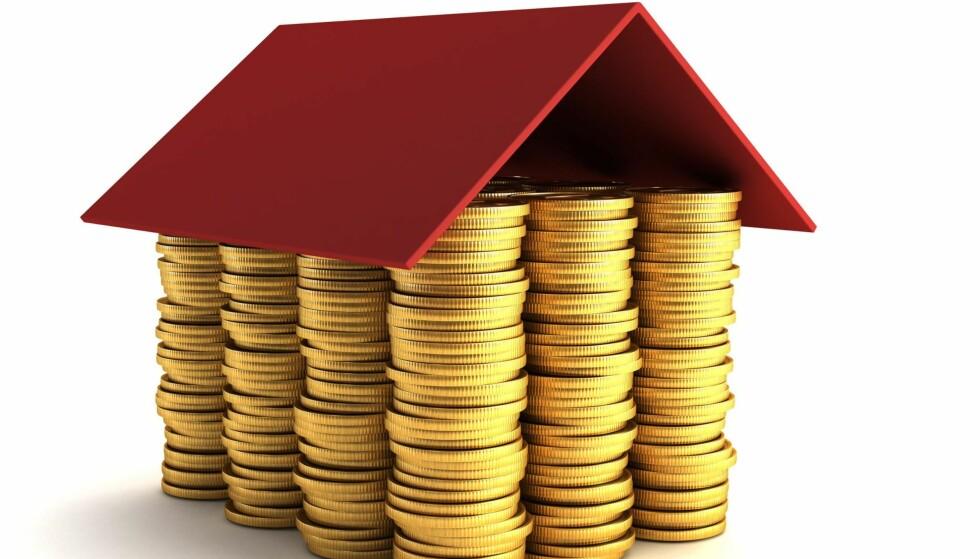 SPAREGRIS: Mange nordmenn sparer til pensjon gjennom bolig. Men det er ikke nødvendigvis dette som gir best avkastning. Illustrasjon: NTB Scanpix