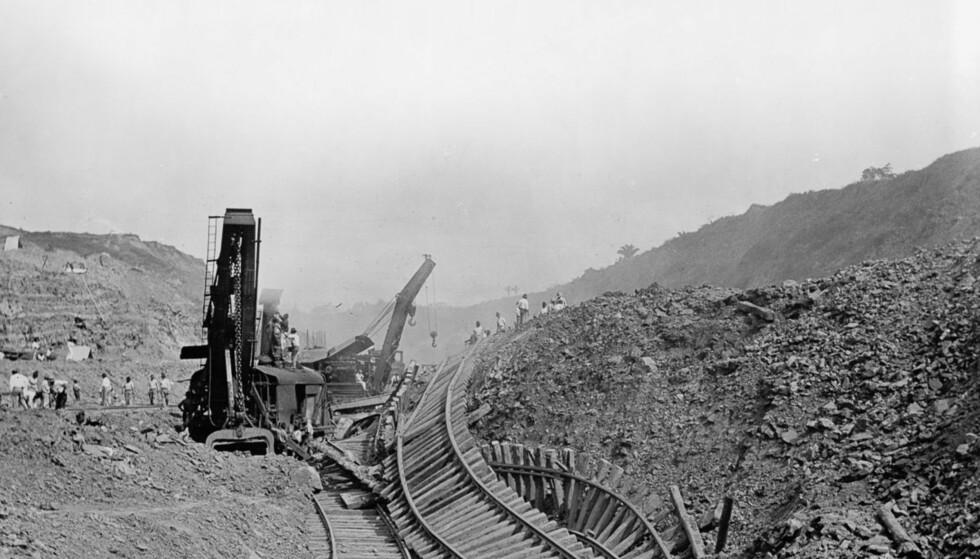 ET TROPISK MARERITT: Revolusjoner, sykdommer, oversvømmelser og jordskjelv gjorde byggingen av den franske Panamakanalen til et mareritt. Foto: Detroit Publishing Company