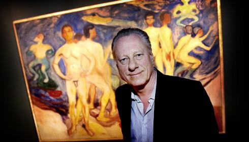BEVISST STRATEGI: Museumsdirektør Stein Olav Henrichsen forteller at det er bevisst at de ikke viser Skrik ute i verden. De vil trekke folk til Munch-museet i Oslo. Foto: Jacques Hvistendahl / Dagbladet