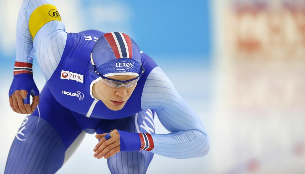 VANT: Håvard Lorentzen greide ikke å følge opp fredagens verdenscupseier under dagens 500 meter. Foto: NTB Scanpix