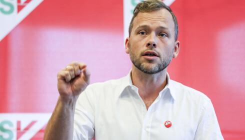 KRITISK: SV-leder Audun Lysbakken er kritisk til Trumps kunngjøring. Foto: Ørn E. Borgen / NTB scanpix