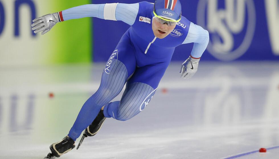 UHELL: For Sverre Lunde Pedersen under verdenscupen i Heerenveen. Foto: NTB Scanpix