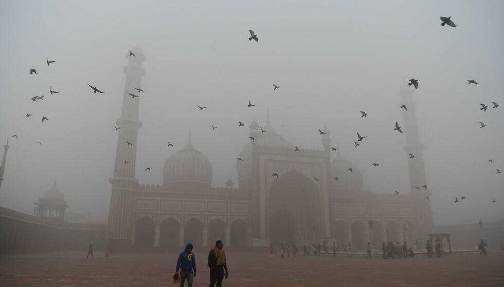 HOVEDSTAD: New Delhi er Indias hovedstad og har nærmere 22 millioner innbyggere. Foto: AFP PHOTO / Sajjad HUSSAIN