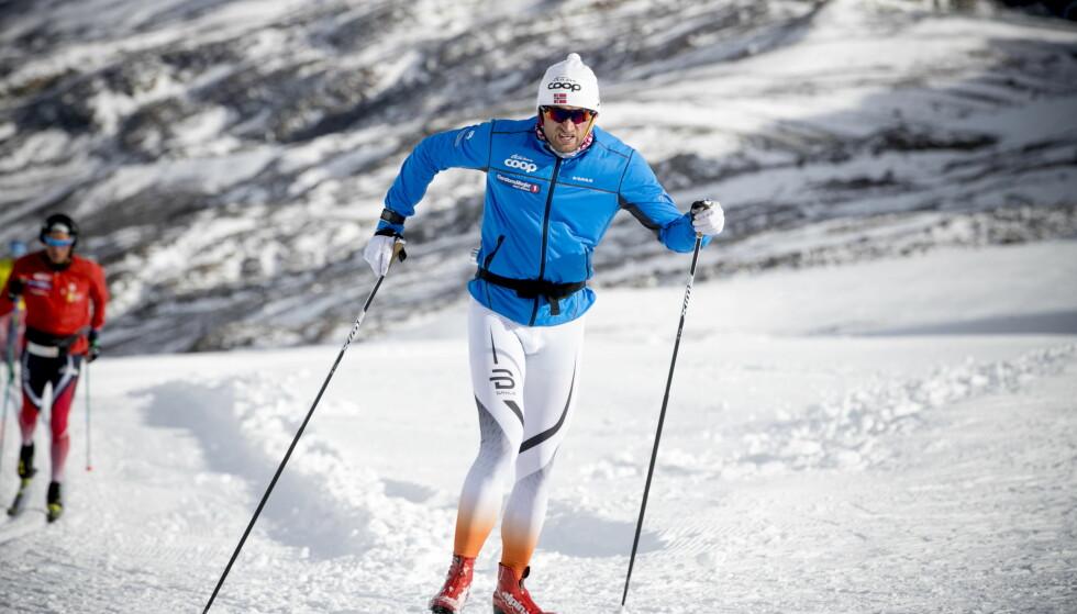 TUNGE BEIN: Petter Northug har rapportert om gode bein de siste ukene, fram til forrige uke. Foto: Bjørn Langsem / Dagbladet.