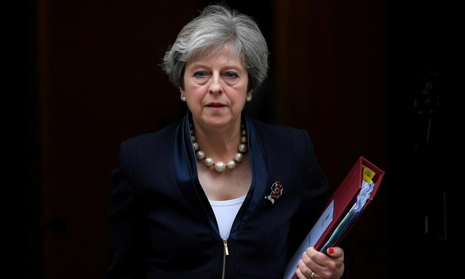 KRITIKK: Statsminister Theresa Mays regjering har fått kraftig kritikk på hjemmebane for sin håndtering av brexit-forhandlingene med Brussel. Foto: Toby Melville / Reuters / NTB Scanpix