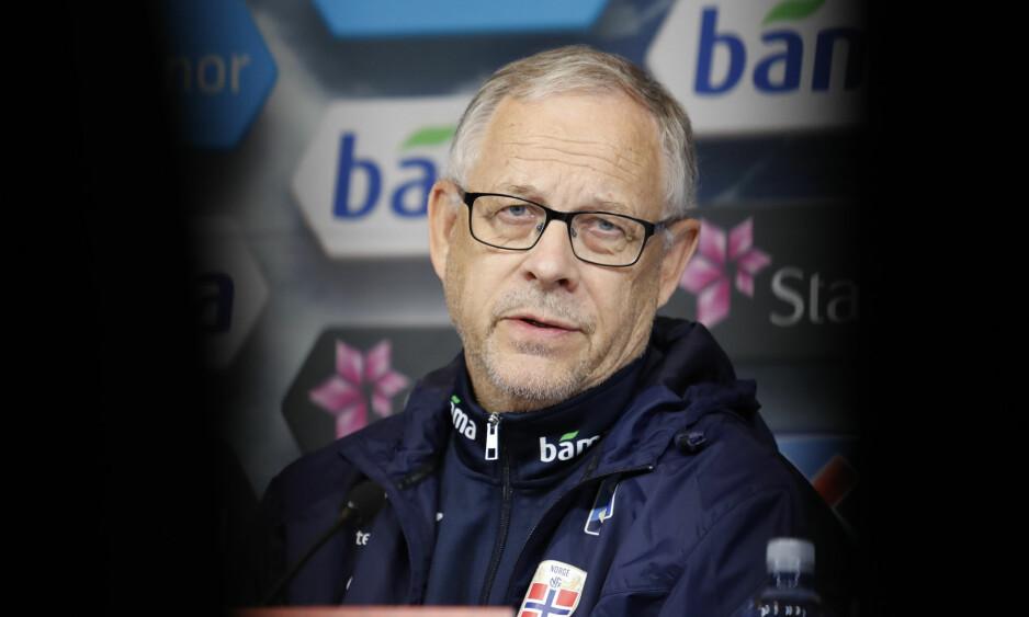 NY TEST: Lars Lagerbäck og Norge møter Slovakia i årets siste landskamp i kveld. Foto: Torstein Bøe / NTB scanpix