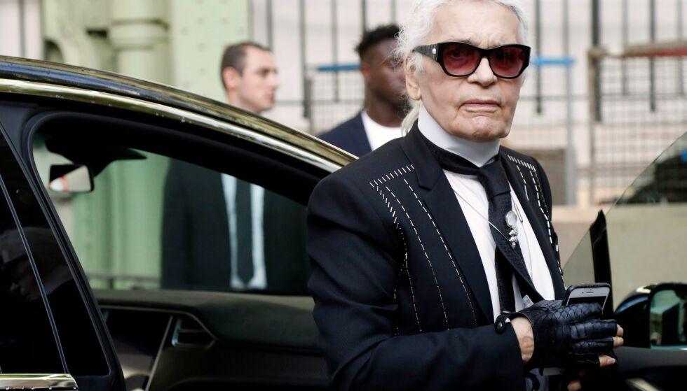 DØD: Karl Lagerfeld er død. Foto: NTB scanpix