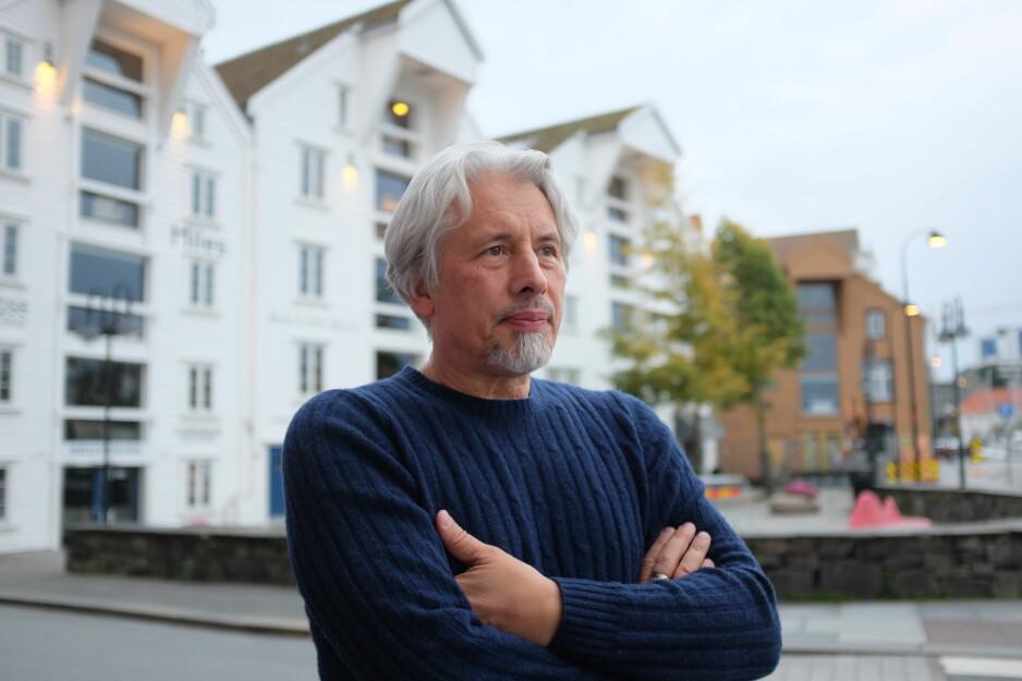 STERK FORFATTER: Vladimir Sorokin (62) er en av de mest kjente og omdiskuterte dikterne i dagens Russland. Tidligere i år besøkte han Kapittel-festivalen i Stavanger. Foto: Fredrik Wandrup