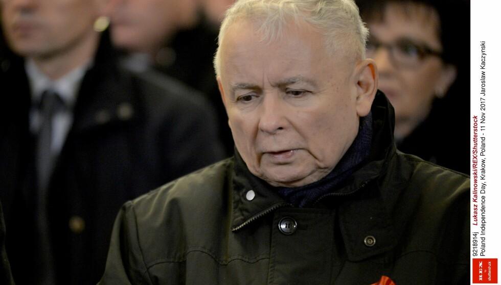 Partieier Jaroslaw Kaczynski. Foto: NTB Scanpix