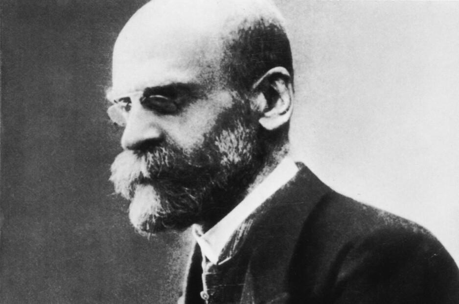 DURKHEIM: David Émile Durkheim ble født 15. april 1858 og levde til 15. november 1917. Foto: NTB scanpix
