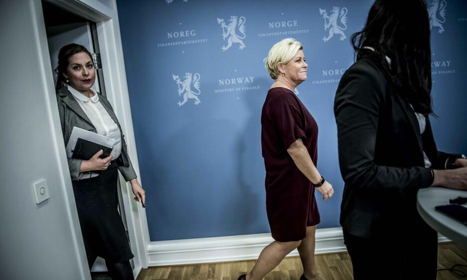 - MÅTTE DRA I NØDBREMSEN: Ifølge Siv Jensen måtte hun dra i nødbremsen etter gjentatte advarsler til SSB-sjefen om å holde an omstillingsprosessen. Foto: Thomas Rasmus Skaug / Dagbladet