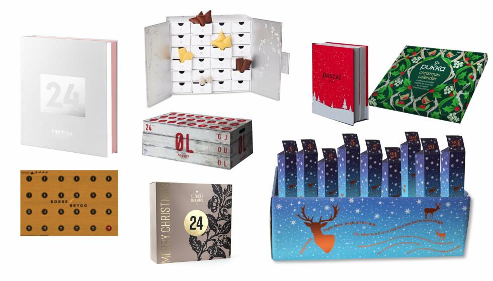 JULEKALENDER: Te, sjokolade, øl og selvpakket fra polet. Her er julekalenderne for de aller største barna.