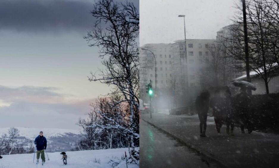 VÆR: I Nord-Norge, nord for Lillehammer og i fjellet blir det vintervær. I lavlandet og langs kysten kommer høsten tilbake. Illustrasjonsbilde. Foto: Marianne Skaug/Dagbladet, Frank Karlsen/Dagbladet.